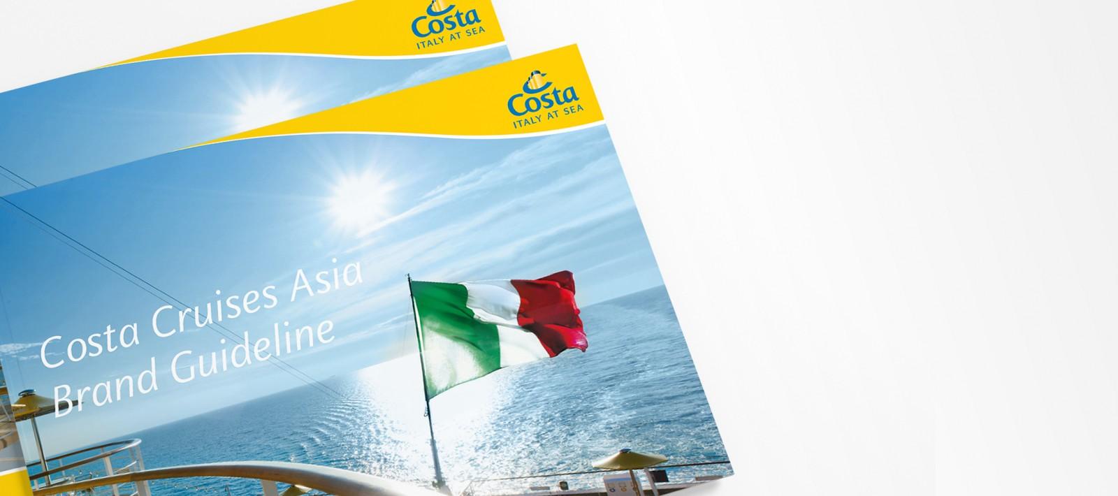 Brand book design for Costa