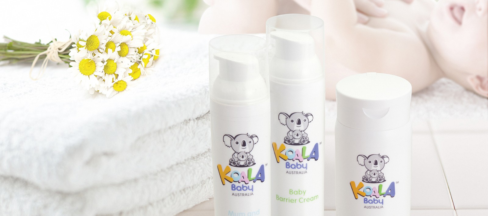 Skincare packaging design for Koala Baby