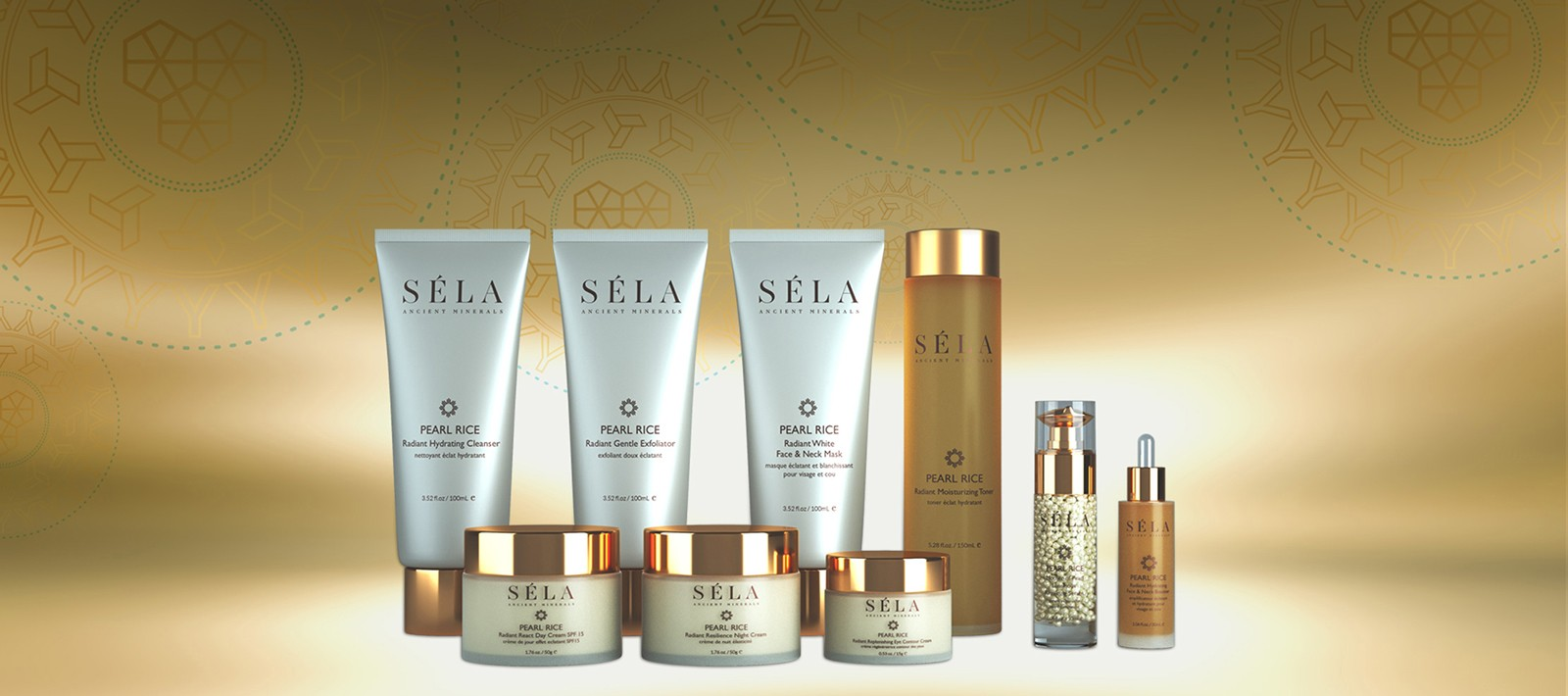 Skincare packaging design for Sela