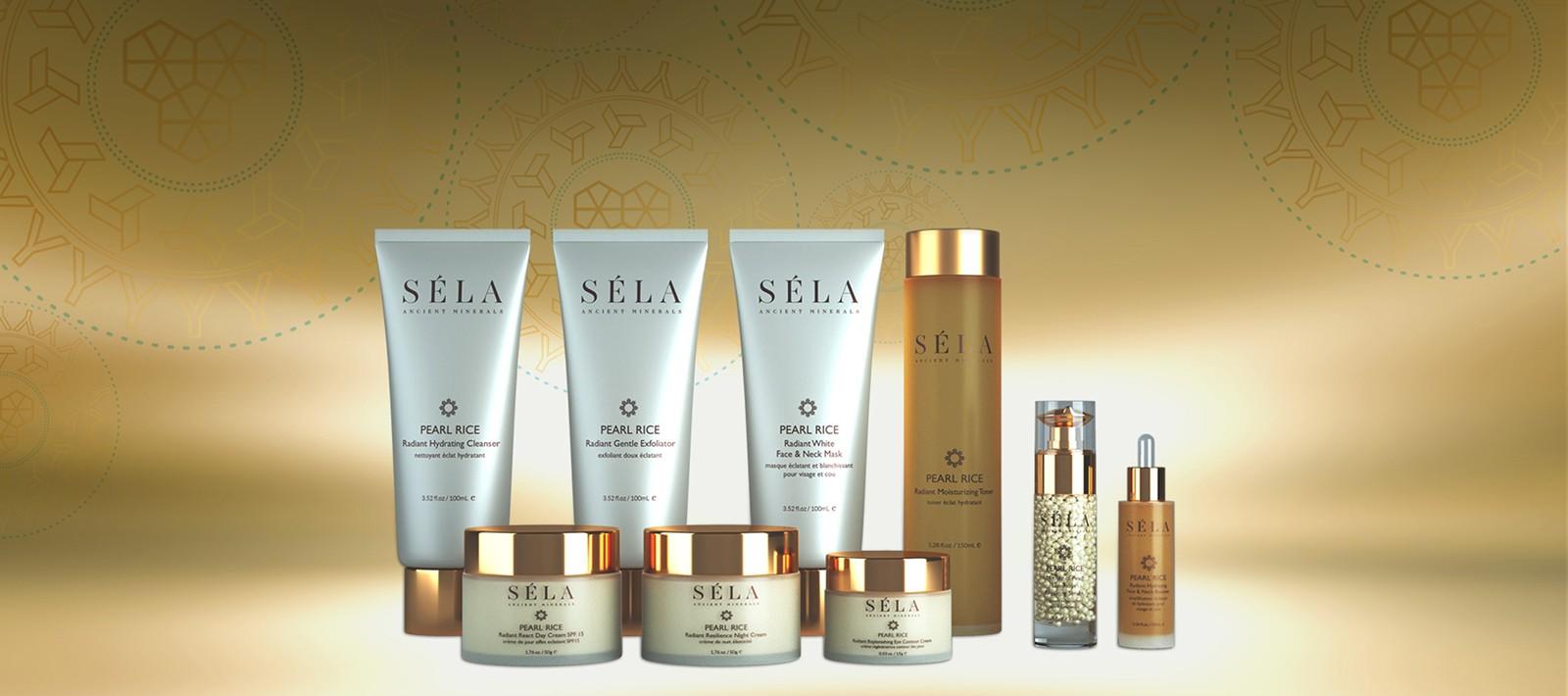 Sela skincare brand product design