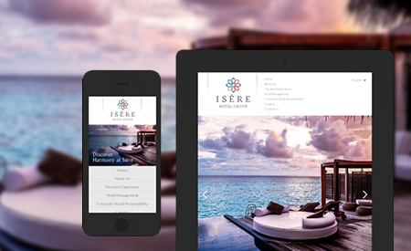 Isère Hotel Group Website image